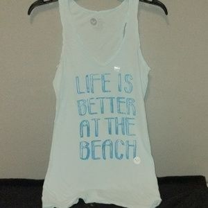Roxy Life Is Better At The Beach Tank Top Large
